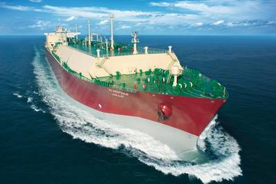 Datei-Bild: Ein typischer LNG-Carrier auf See (CREDIT: QGTC)