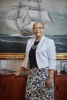 Dra. Cleopatra Doumbia-Henry, Presidenta de la World Maritime University (Malmö, Suecia). Foto cortesía de WMU