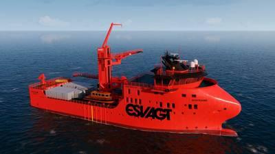 ESVAGT proporcionará dos recipientes de operación de servicio, en el nuevo diseño 831L para MHI Vestas. Foto: ESVAGT