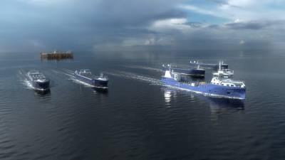 Eidsvaag Pioneer, das im Rahmen des AUTOSHIP-Projekts für den ferngesteuerten und autonomen Transport ausgerüstet wird. Foto: Kongsberg