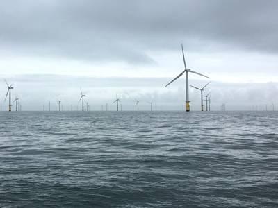 Gwynt Y Mor风电场。照片来自Rovco。