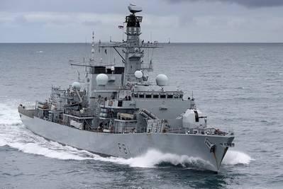 HMS Sutherland (foto del archivo cortesía de la Royal Navy)