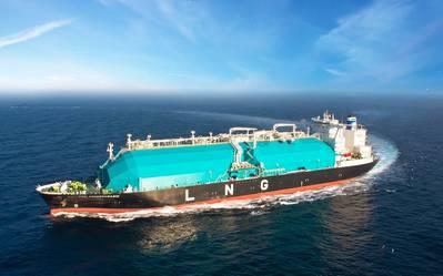 Imagen de archivo: un típico transportista de GNL en el mar (CRÉDITO: MISC)