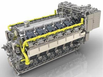 MAN 51 / 60DF发动机(图片来源:MAN Energy Solutions)