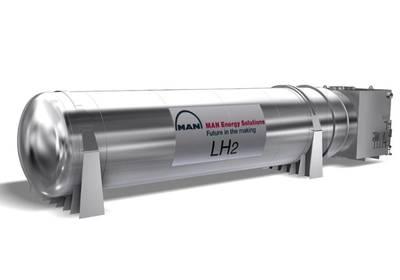 Η MAN CRYO, σε συνεργασία με το Fjord1 και το Multi Maritime, έχει αναπτύξει ένα σύστημα θαλάσσιων καυσίμων για υγροποιημένο υδρογόνο. Εικόνα: MAN Cryo