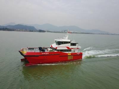 Njord Zenith ist der erste von zwei neuen Mannschaftstransportschiffen für Njord Offshore (Foto: BMT)