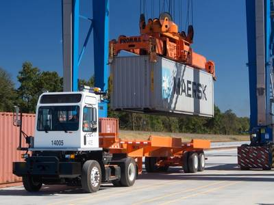 Operaciones de contenedores intermodales en los puertos SC (CRÉDITO: Puertos SC)