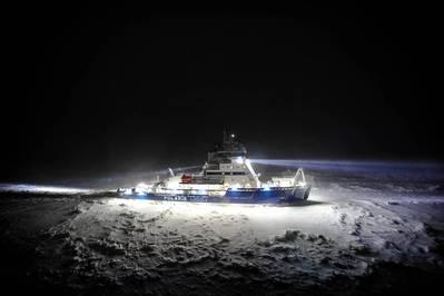 Polaris en la Bahía de Botnia durante el invierno de 2017 (Foto: Patrik Barck, Arctia Ltd.)