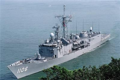 ROCS Yueh Fei (PFG-1106) هي واحدة من المقاتلين السطحيين في ROCN. تم بناؤه في تايوان لتصميم فرقاطة الصواريخ أوليفر هازارد بيري البحرية الأمريكية. (صورة ROCN)