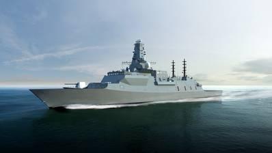 Representación del buque de guerra Type 26 (Imagen: UK Royal Navy)