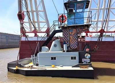 El M / V River Cleanup acortado después del trabajo de modificación (Foto: TSGI)