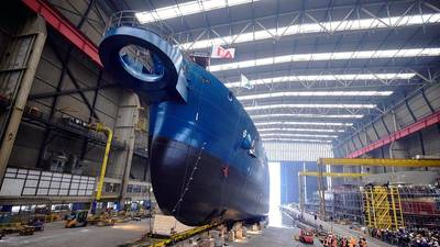 Royal IHC于1月11日在荷兰发布了新型耙吸挖泥船DC Orisant(照片:Royal IHC)