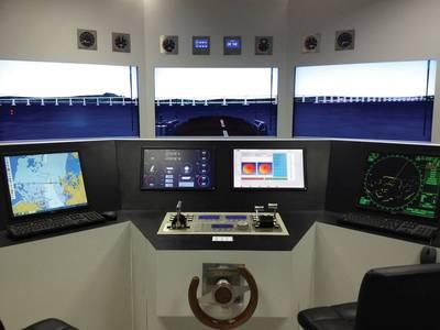 Simulador de ponte SIMNAV. Imagem: ICN
