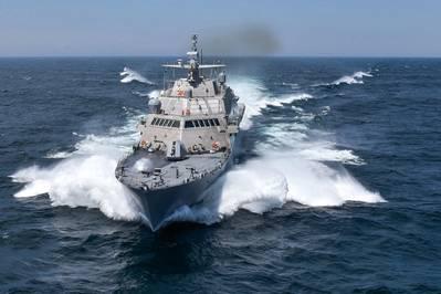 USS Detroit (LCS 7) (Fotografía de la Marina de los EE. UU. Cortesía de Lockheed Martin-Michael Rote)