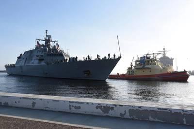 Το USS Little Rock (LCS 9) φτάνει στο homeport του στο Mayport, Fla., Στις 12 Απριλίου (Φωτογραφία: Naval Station Mayport)