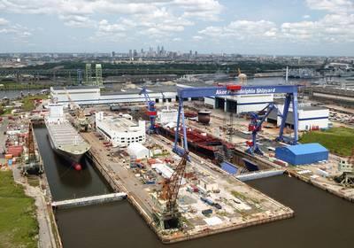 Una vista aérea del astillero de Filadelfia (CRÉDITO: Astillero de Filadelfia)