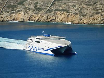 Um ferry rápido da Seajet - a Mechanica Marine estabeleceu um novo relacionamento com a empresa grega (Foto: Mechanica Marine)