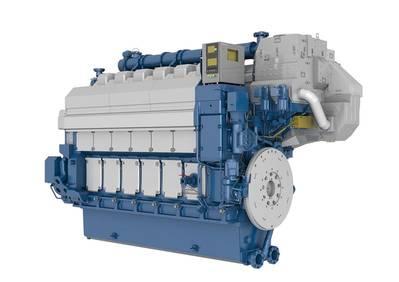 Un motor de doble combustible Wärtsilä 34DF de seis cilindros (Imagen: Wärtsilä)