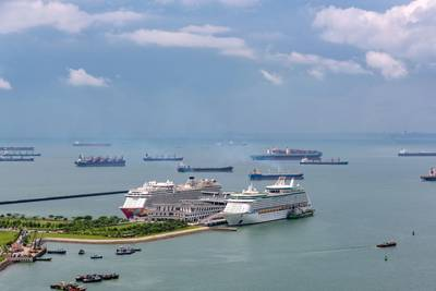 As portas de Cingapura começaram a rastrear os viajantes que chegam em navios de passageiros e comerciais quanto a sintomas de coronavírus (© hit1912 / Adobe Stock)