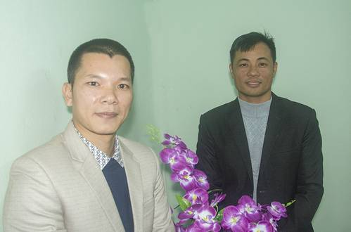 Shipyard owner Mr. Nguyen Van Tuyen with his brother-in-law, boat owner Capt. Trinh Van Hung. (Haig-Brown photos courtesy of Cummins Marine)