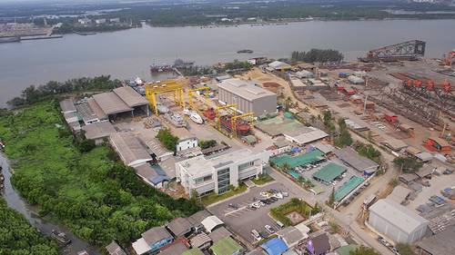 The Marsun's ship yard in Thailand is a state of the art facility for aluminum and steel fabrication.