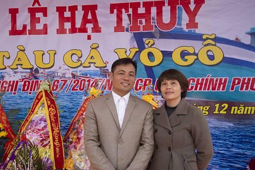 Capt. Trinh Van Hung with Cummins Vietnam Engine Sales Engineer Linh Cam Nguyen. (Haig-Brown photos courtesy of Cummins Marine)