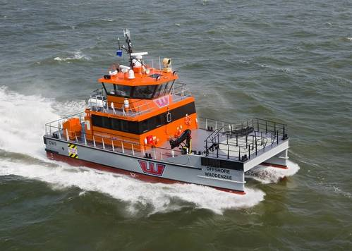OWS' newest vessel, Offshore Waddenzee, is a Damen Fast Crew Supplier 2008 built for offshore wind construction projects (Photo: Damen)
