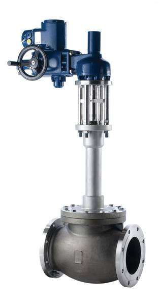 "Bestobell is a leader in the cryogenic valve space,"" said Hume. Pictured left is the  Bestobell Actuated globe valve with flanged end connections."