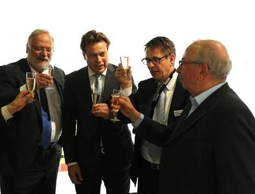 From left: Frits van Dongen, Arnout Damen (COO Damen), André Meijer (MD Imtech Marine), Henk Groen