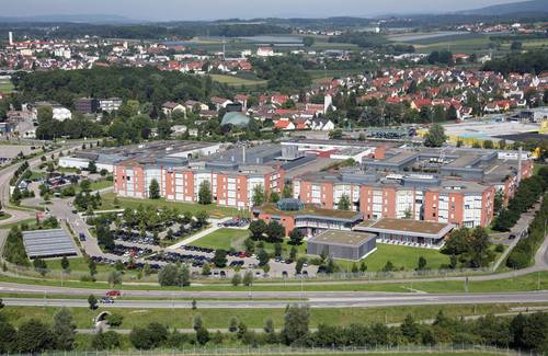 Aerial photo of ZF Friedrichshafen AG, Corporate Research &  Development and Corporate HQ, Friedrichshafen. (Photo: ZF)