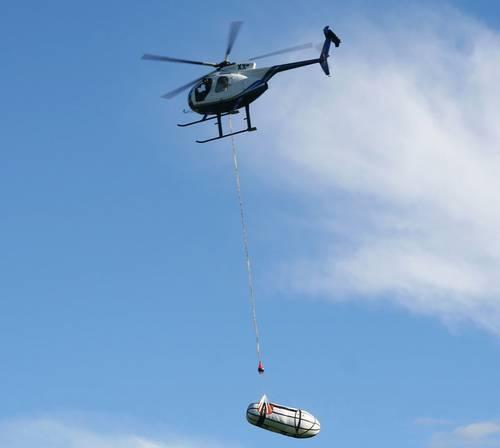 Flight testing a ShipArrestor deployment bag