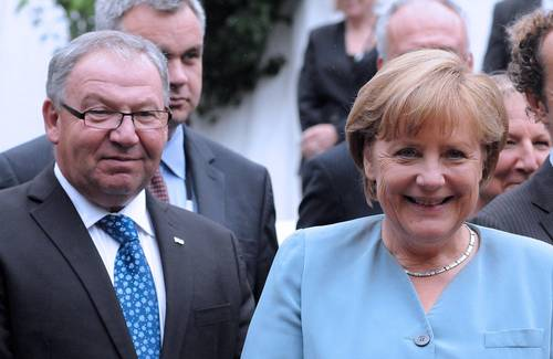 Nova Scotia Premier Darrel Dexter and Chancellor of Germany Angela Merkel.