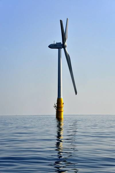 Floating turbine off Japan's Southern-most island