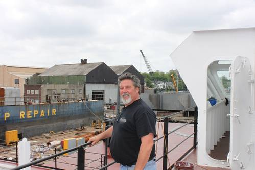 "Robert ""Bobby D"" DeCrescenzo got his start in the maritime industry working on cranes in the late 1970s. From there, he was hired by Jay Cashman Inc. as a mechanic and worked his way up to president of Sterling Equipment. (Photo: Eric Haun)"