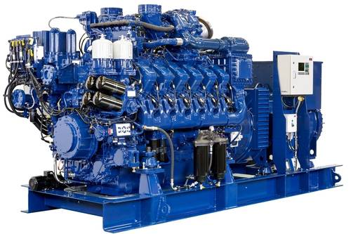 MTU marine genset with 12V 4000 M23S engine for diesel-electric propulsion and on-board power.