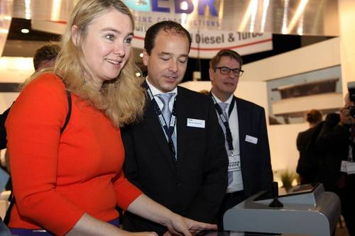 Melanie Schultz van Haegen with Marcel Vermeulen (Imtech)