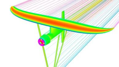 Pressure distribution on the Deep Green power plant made with CFD analysis.