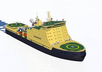 Nordic Yards rendering of Icebreaker LK-25