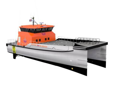 Rendering of the Damen Twin Axe Fast Crew Supplier 2610