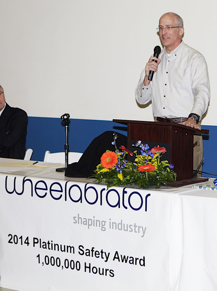 Robert E. Joyce Jr., President and CEO, Norican Group, parent company of Wheelabrator congratulated the team on an accomplishment no other group in the Norican Company has achieved.