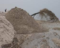 Sand stockpiling from Ellicott cutter dredger