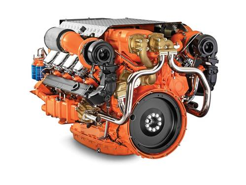 In August Scania announced that its engine range for EPA Tier 3 is the latest addition to the Scania marine engine range. The range consists of a 13 liter Inline six and a 16 liter V8 (pictured) for use in both marine propulsion and marine auxiliary applications.