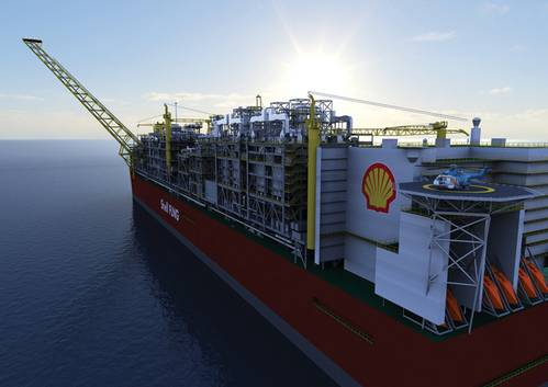 Artist's impression of Prelude FLNG. (Photo: Courtesy Royal Dutch Shell)