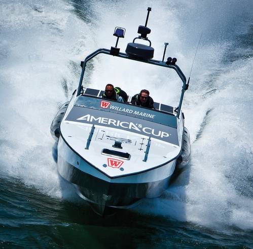 Americas Cup Umpire Boat - Willard Marine 43 Assault High Speed Interceptor. John Fleck'