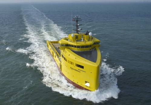 World Emerald is the fourth in a series of five Damen PSVs to be delivered to World Wide Supply (Photo: Damen)