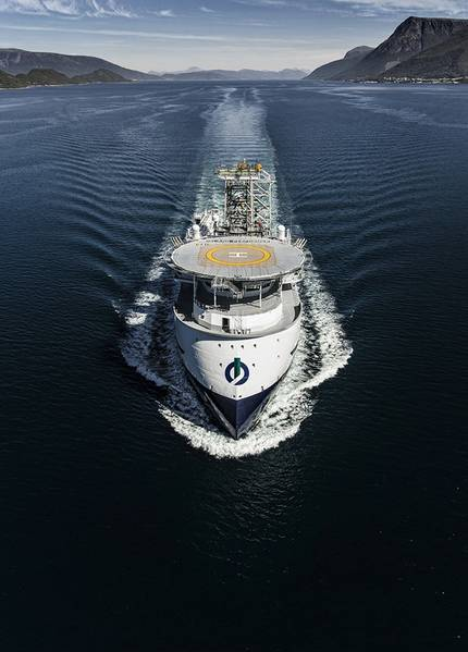 Island Performer, a state-of-the-art subsea vessel built and designed by Ulstein, has been delivered to Island Offshore. (Photo: Ulstein Group/Marius Beck Dahle)
