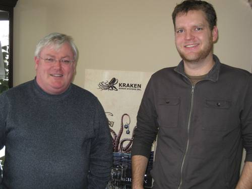 Kraken Sonar Systems President and CEO Karl Kenny and Engineering Manager David Shea.