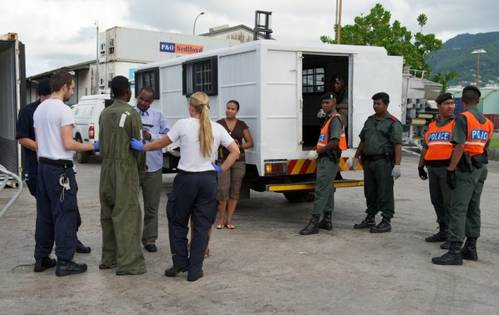 Transfer of pirates to Seychelles authorities in May 2012