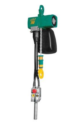 The JDN Mini 250 hoist unit with 250kg lift capacity.