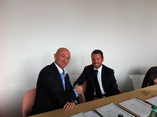 Olivier Utz, CFO Promar, with Andrea Trevisan, Damen Regional Sales Manager